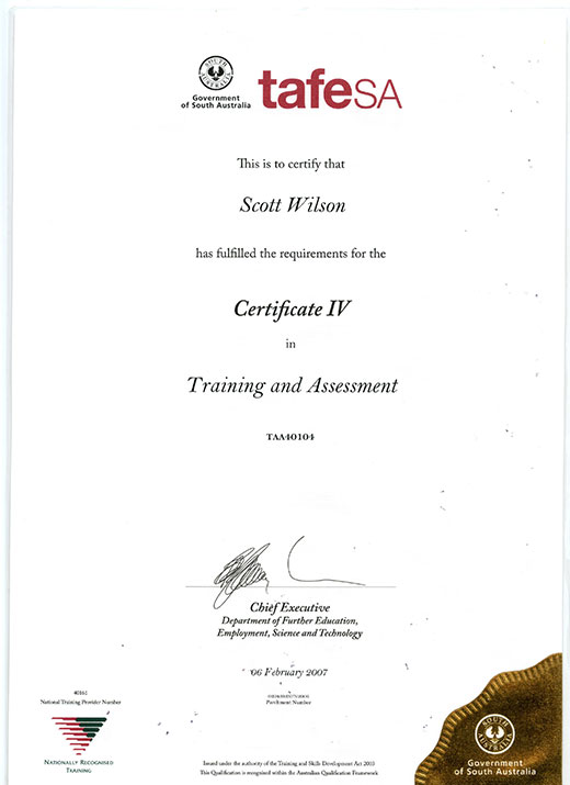 Scott Wilson TAA40104 Training and Assessment