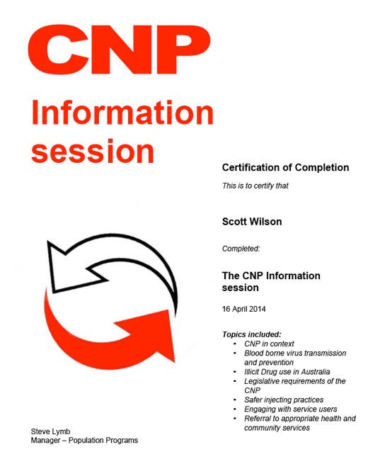 Scott Wilson The CNP Information Session 16th April 2014