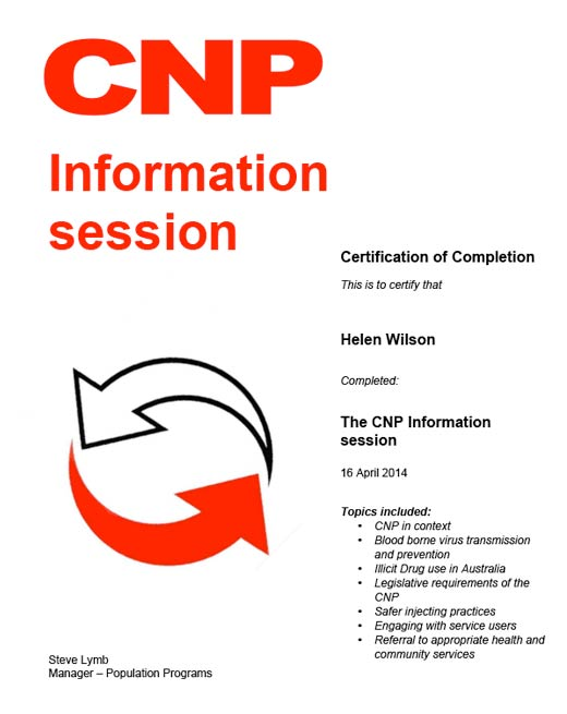 Helen Wilson The CNP Information Session 16th April 2014