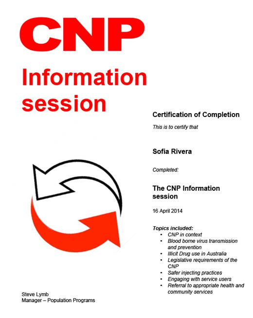 Sofia Rivera The CNP Information Session 16th April 2014