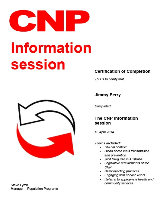 Jimmy Perry The CNP Information Session 16th April 2014