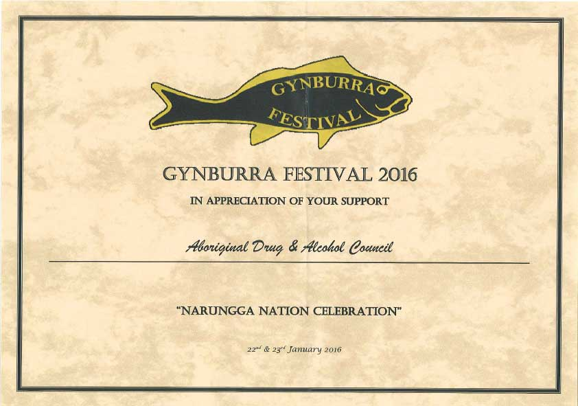 Appreciation Certificate Gynburra Festival 2016