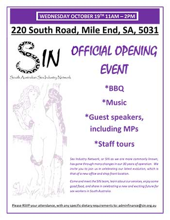SIN Official Opening Event  WEDNESDAY OCTOBER 19TH 11AM � 2PM