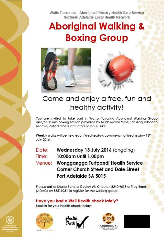 Free Aboriginal Boxing and Walking Group