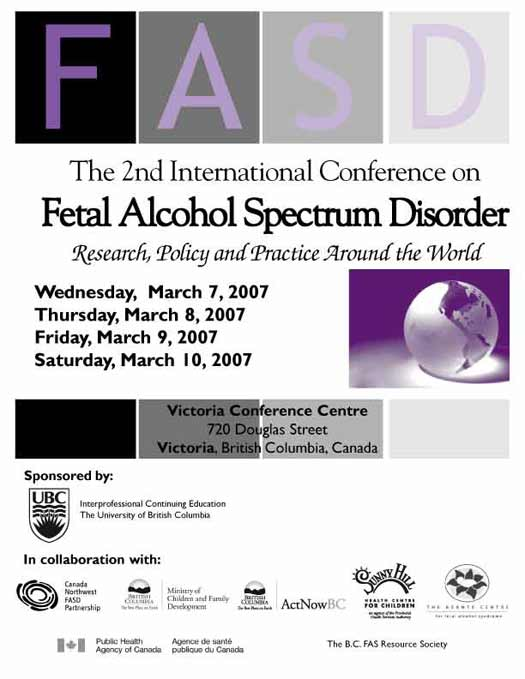 2nd International Fetal Alcohol Spectrum Disorder Research Policy and Practise Around the World. Flyer