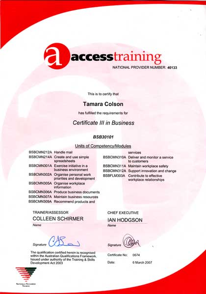 Aboriginal drug alcohol council sa inc certificate 111 in business yadclub Choice Image