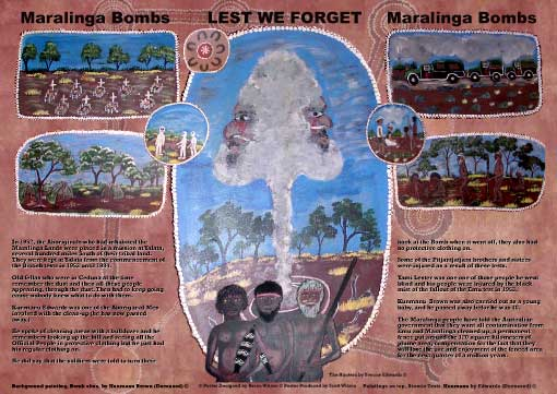 2008 ADAC MARALINGA BOMBS LEST WE FORGET - Poster
